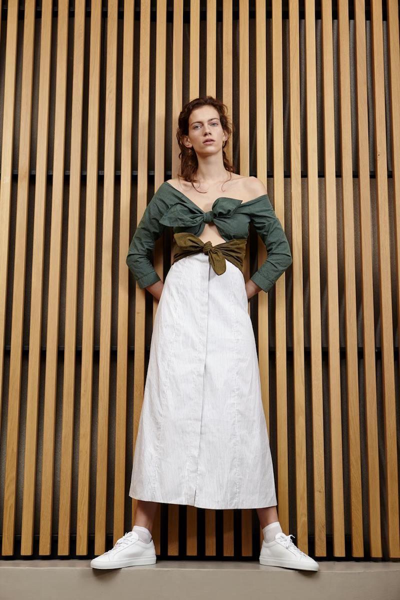 Isa Arfen Multi Double Knot Long Sleeve Dress