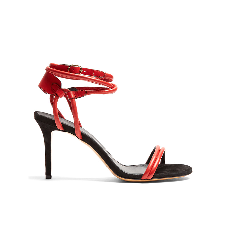 Isabel Marant Aoda Leather and Suede Sandals