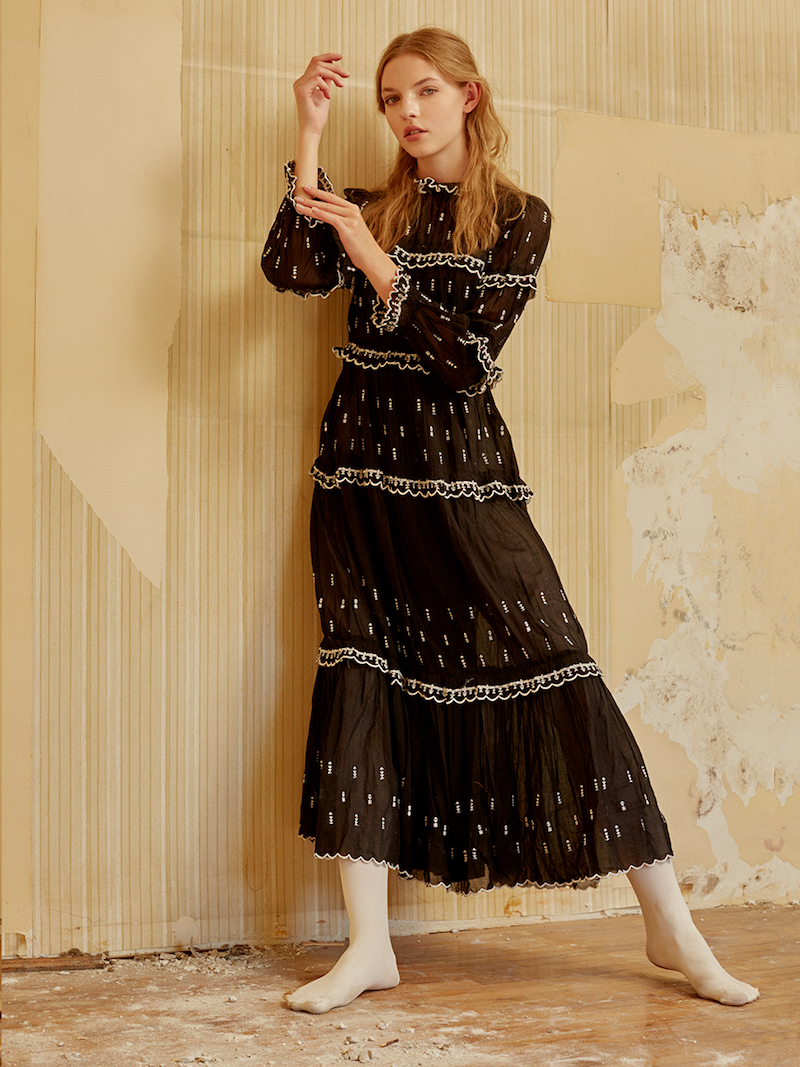 Isabel Marant Étoile Embroidered Cotton Voile Ruffled Dress