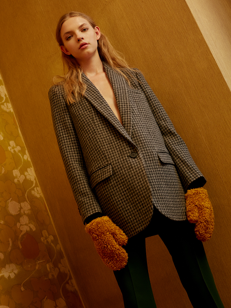 Isabel Marant Étoile Ice Wool Blend Houndstooth Jacket