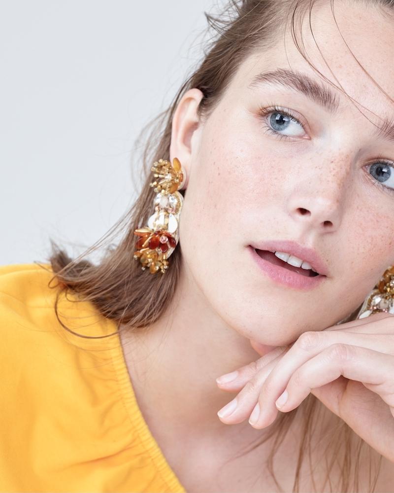 J.Crew Floral Chandelier Earrings