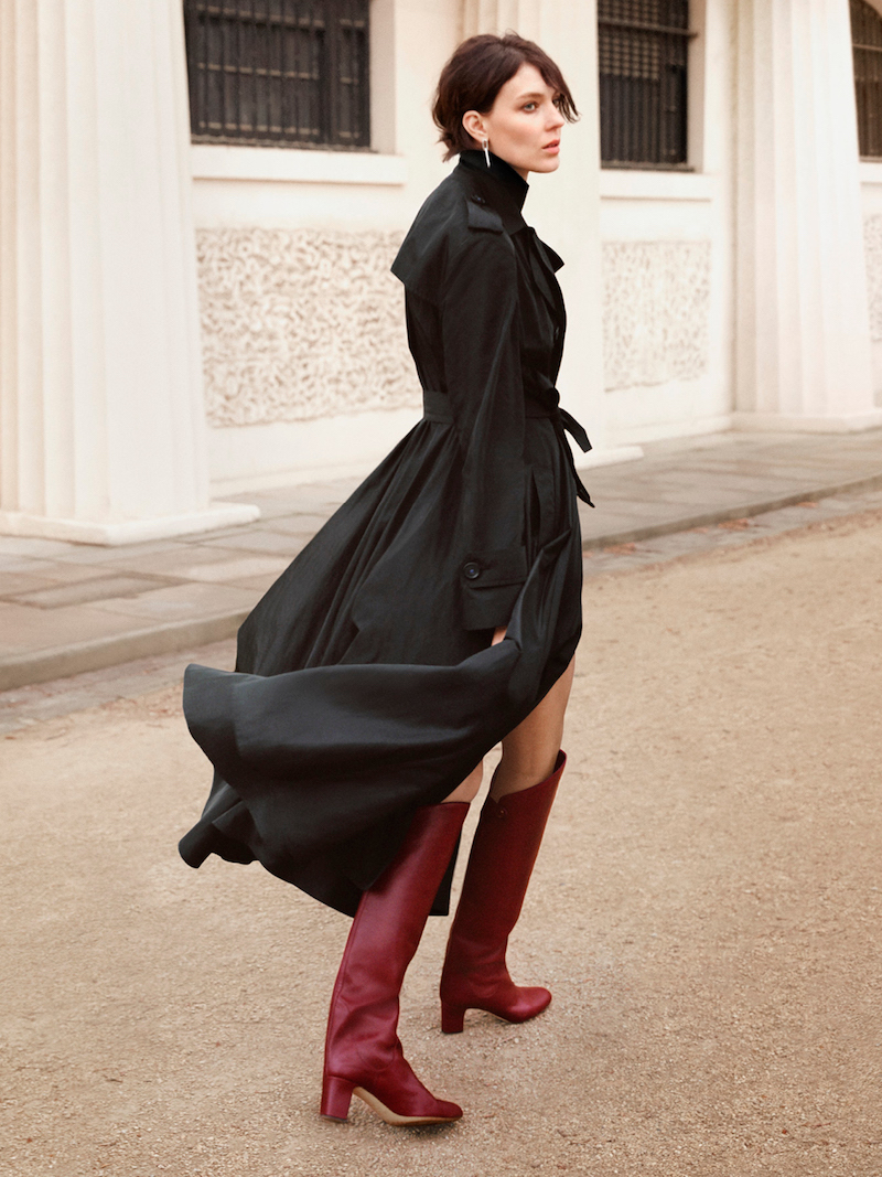 JIMMY CHOO Minerva 65 Vino Smooth Leather Pull On Boots