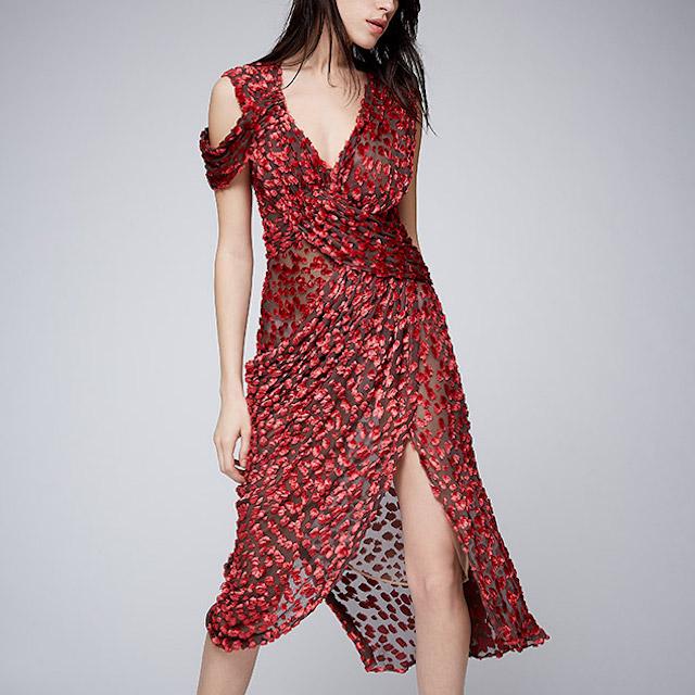 Jason Wu Velvet V-Neck Dress