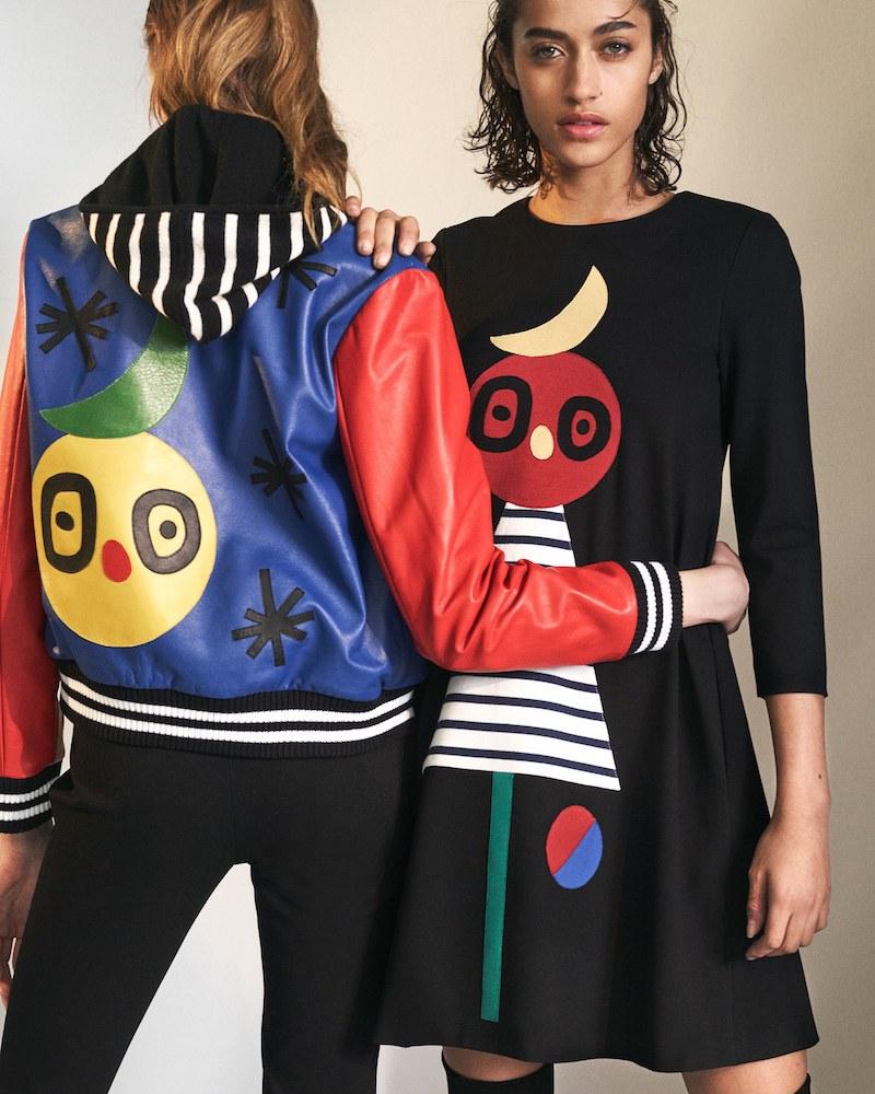 Lisa Perry Appliquéd Leather Bomber Jacket