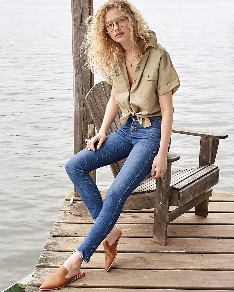 "Madewell 10"" High-Rise Skinny Jeans: Chewed-Hem Edition"