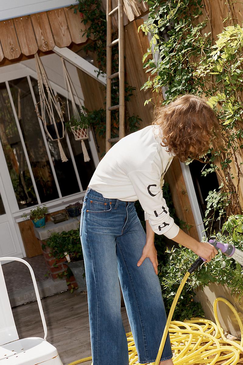 Madewell Wide-Leg Crop Jeans In Bainbridge Wash