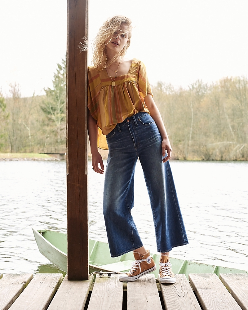 Madewell Wide-Leg Crop Jeans In Bainbridge Wash