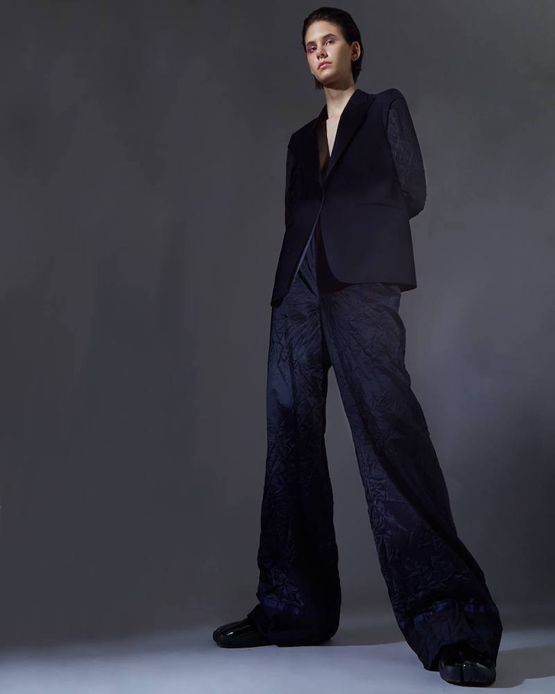 Maison Margiela Wide Leg Creased Pants