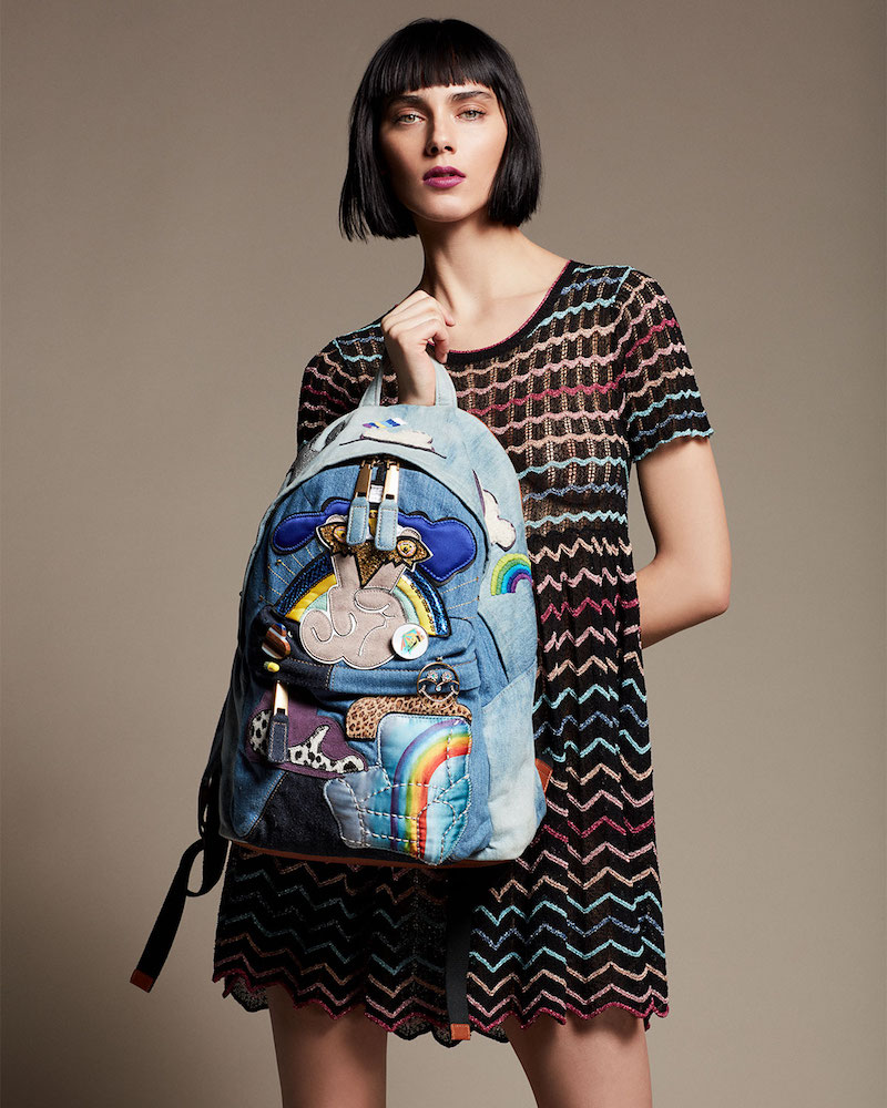 Marc Jacobs Chevron Knit Babydoll Dress