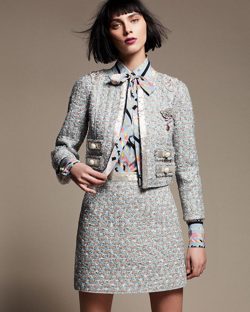 Marc Jacobs Embellished Tweed Jacket