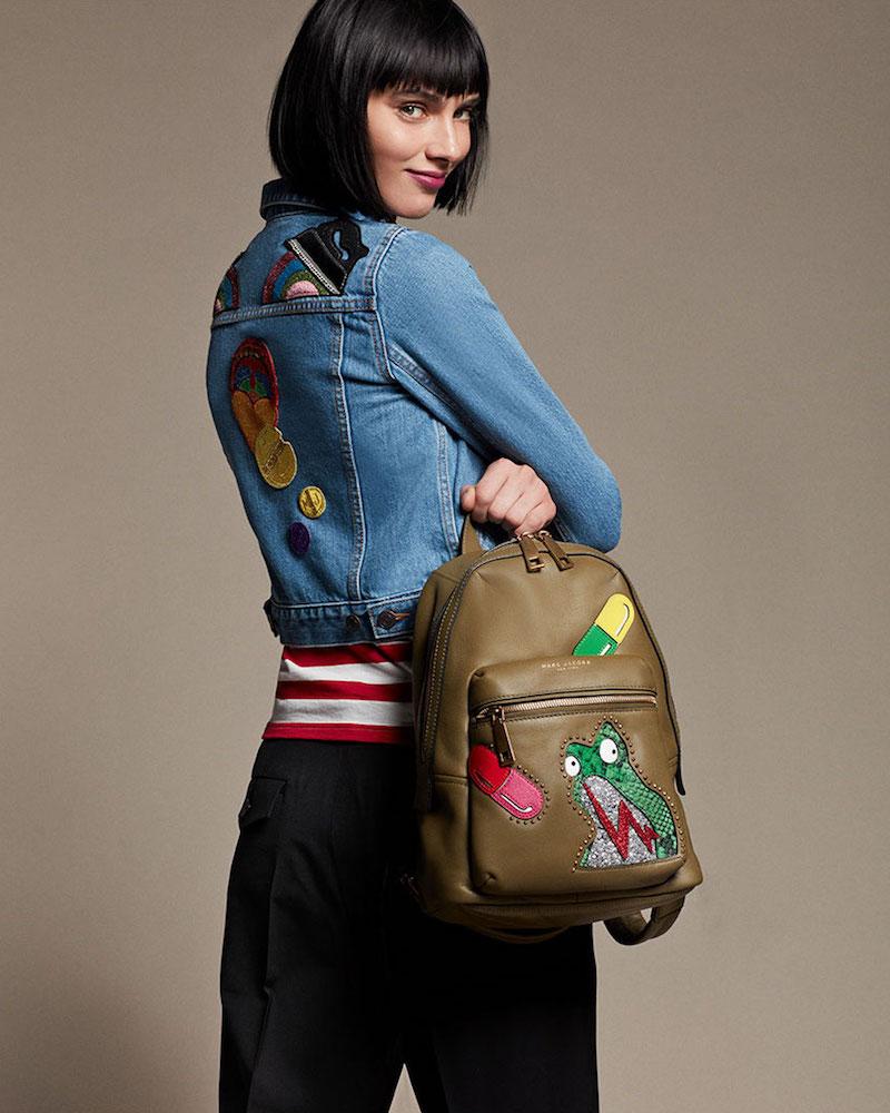Marc Jacobs Shrunken Denim Patchwork Jacket