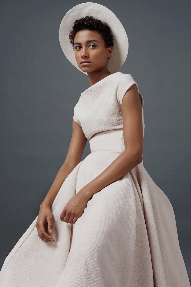 Maticevski Blush Portrayal Cap Sleeve Dress