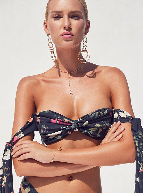 Montce Swim Cabana Ties Top in Emma Floral