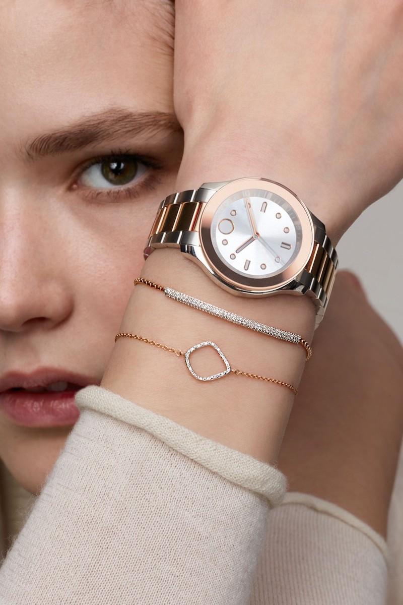 Movado 38mm Bold Two-Tone Bracelet Watch