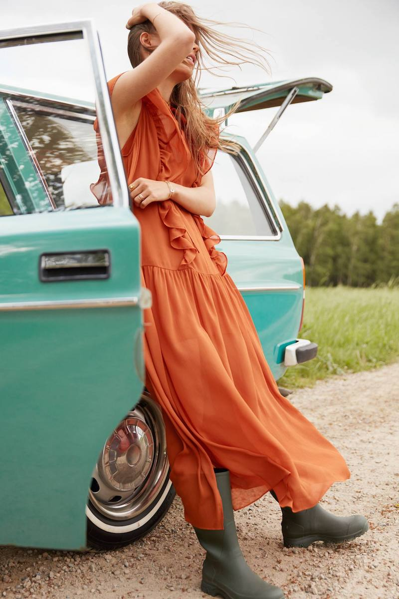 & Other Stories Oversized Frill Dress