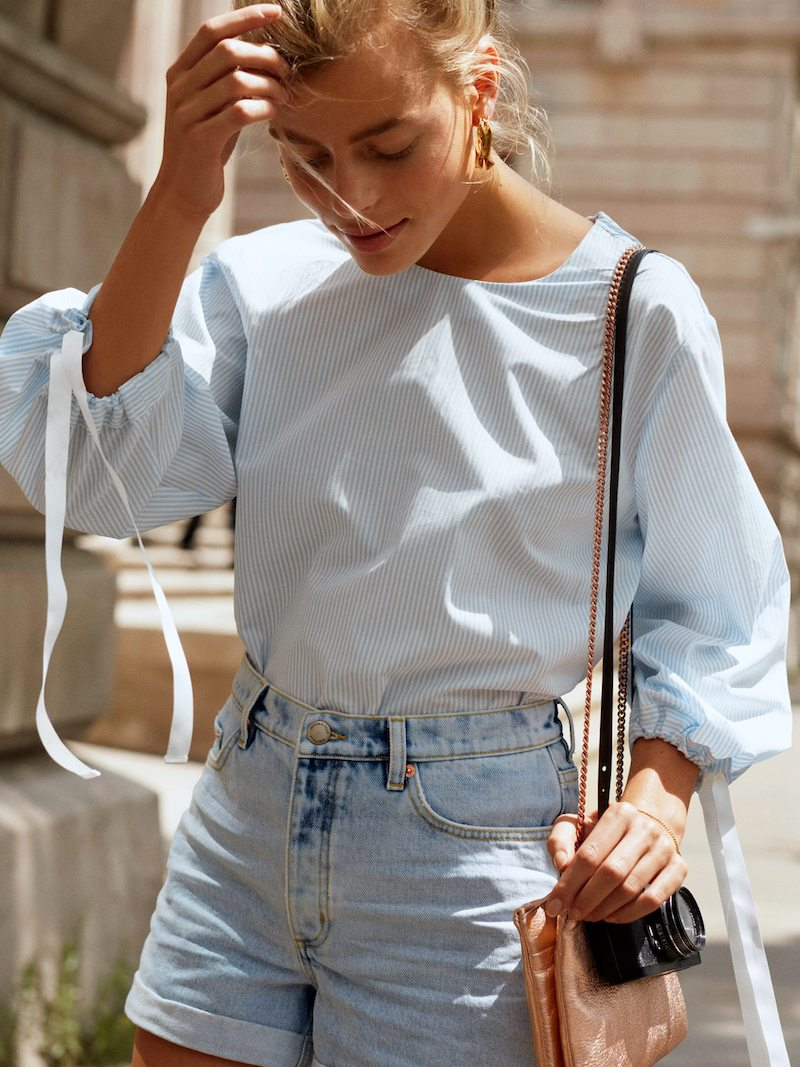 & Other Stories Raw Hem Jeans Shorts