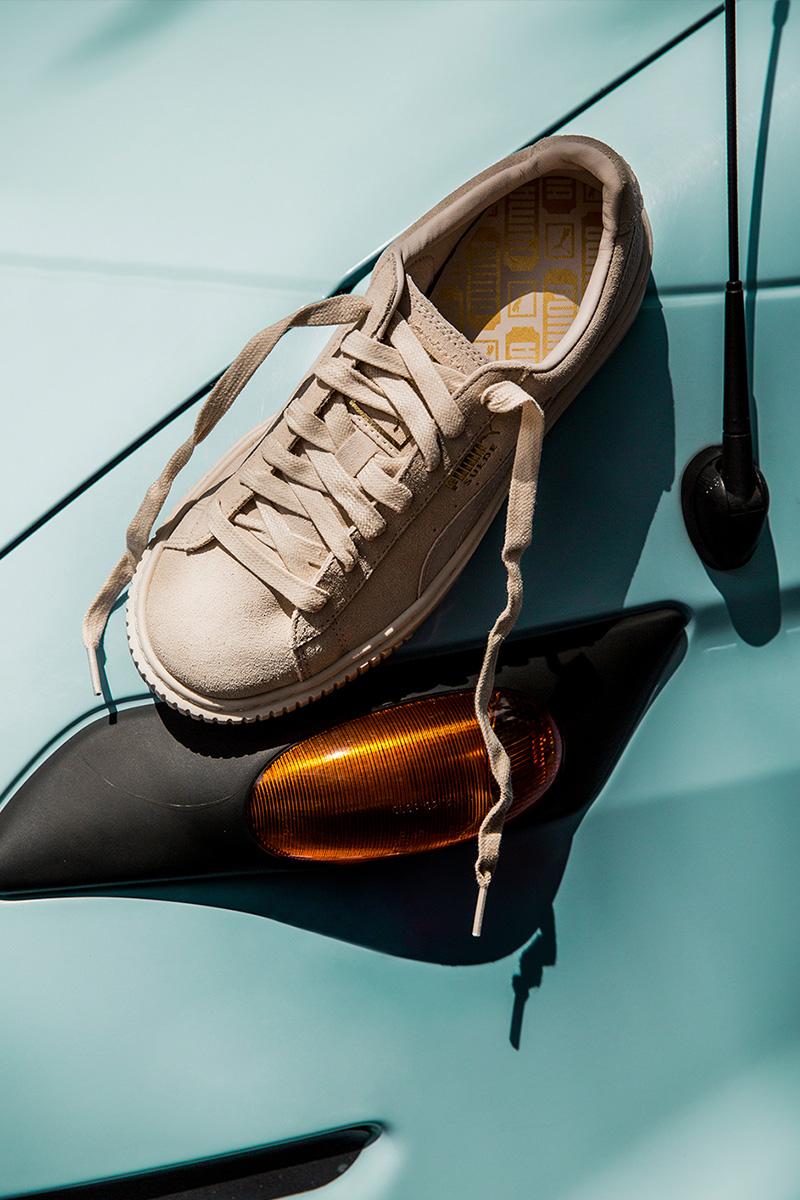 Puma Select Basket Platform Suede Satin Sneakers