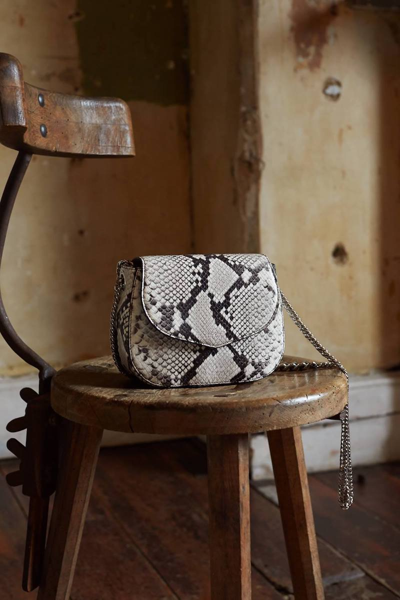ROCHAS Grey Snakeskin Saint Sulpice Bag