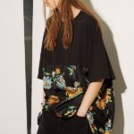 Raey Cotton and Chrysanthemum-Print Silk T-Shirt Dress