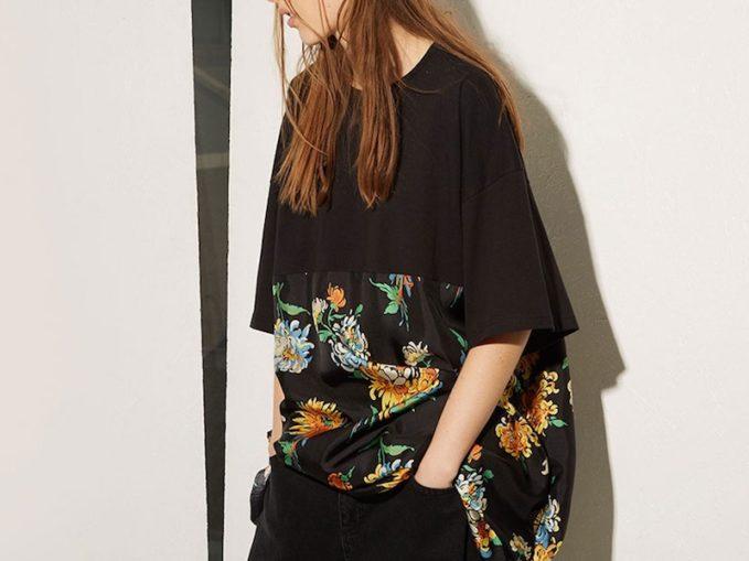 Raey Cotton and Chrysanthemum-Print Silk T-Shirt Dress
