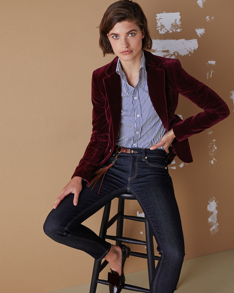Ralph Lauren Collection Parker Velvet Blazer