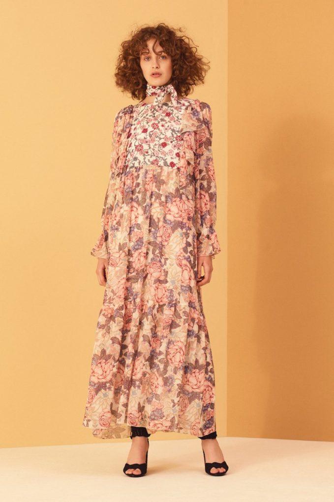 See by Chloé Georgia s Garden-Print Silk-Chiffon Dress