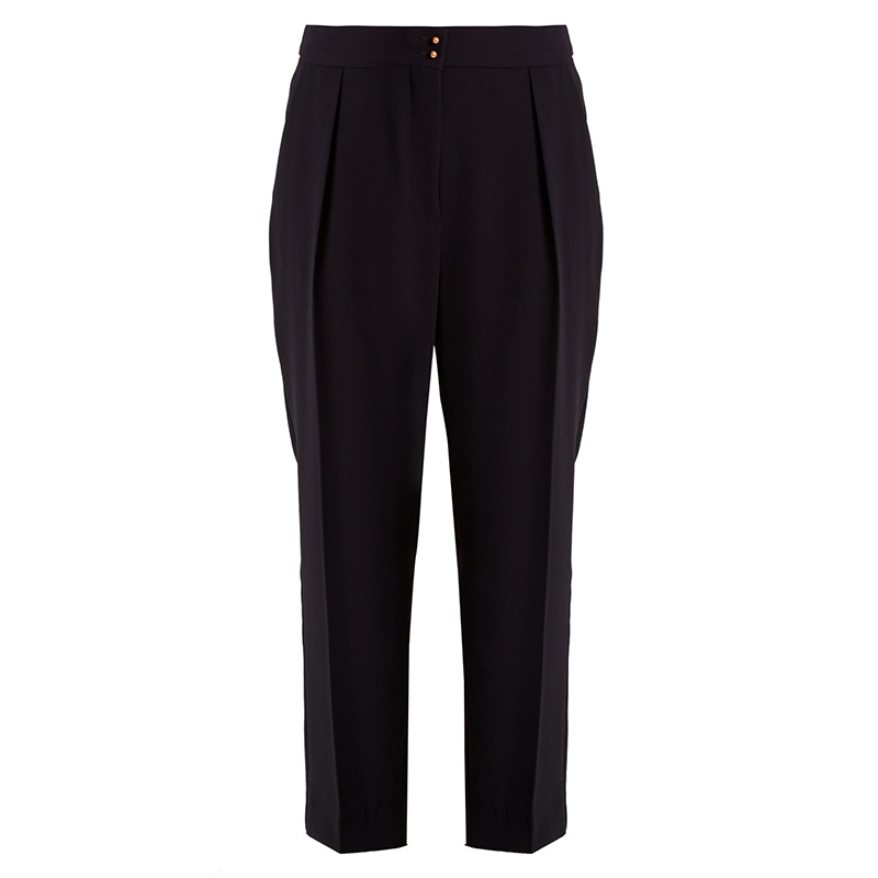 See by Chloé High-Rise Tapered-Leg Crepe Trousers