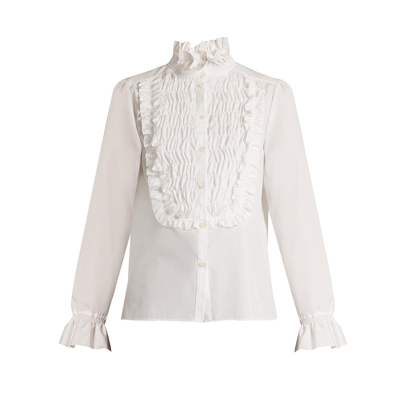 See by Chloé Smocked-Detail Cotton Shirt
