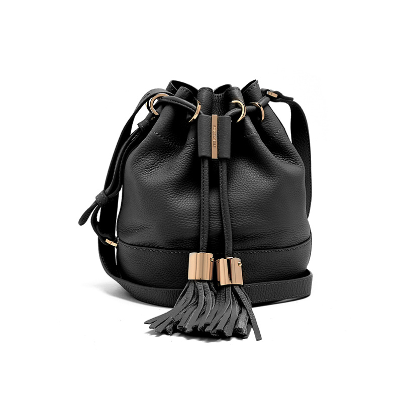 See by Chloé Vicki Medium Leather Cross-Body Bucket Bag