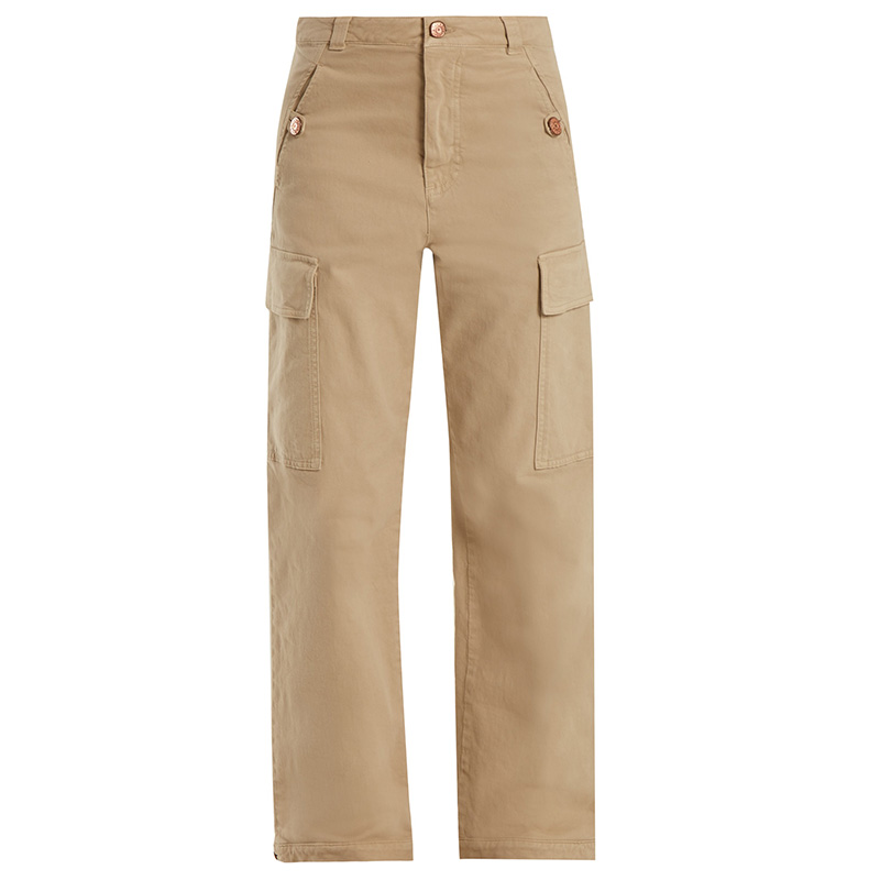 See by Chloé Wide-leg cotton-blend trousers