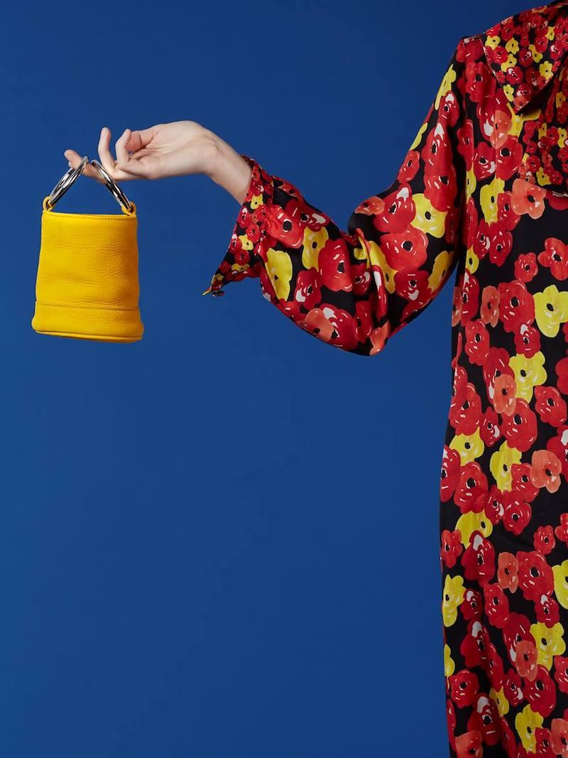 Simon Miller Maize Suede Bonsai Bucket Bag