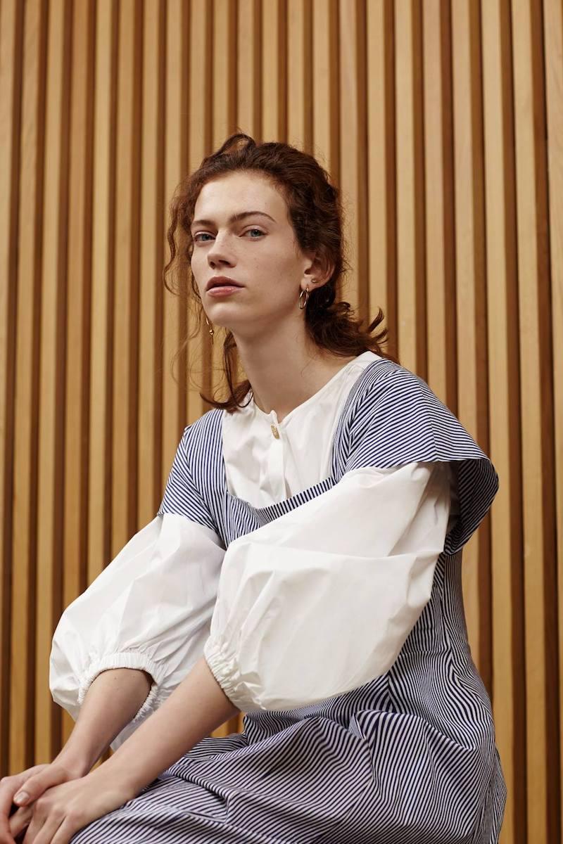 Sonia Rykiel Ivory Cotton Elasticated Hem Blouse