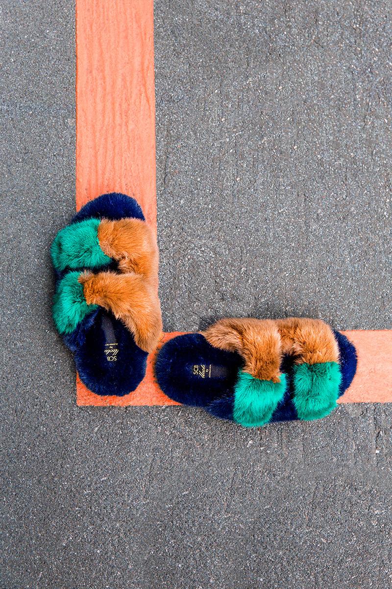 Suecomma Bonnie 20mm Faux Fur Slide Sandals