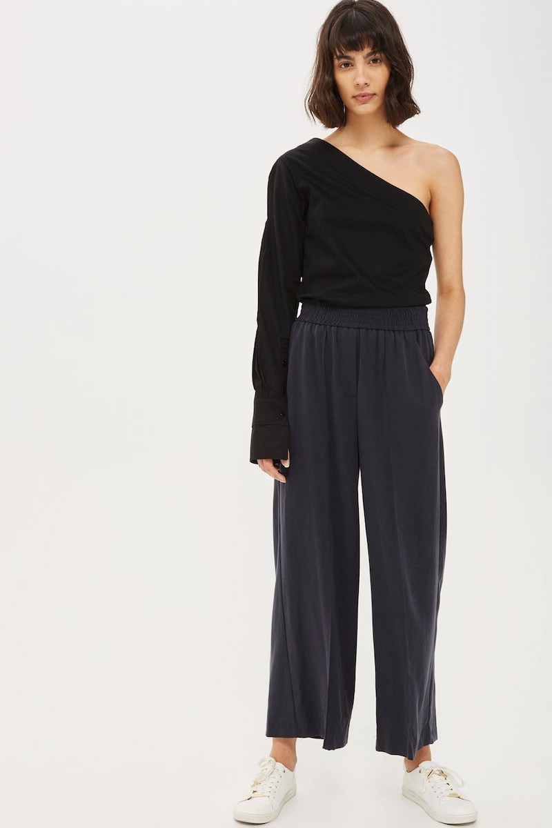 Topshop One-Shoulder Jersey Shirt