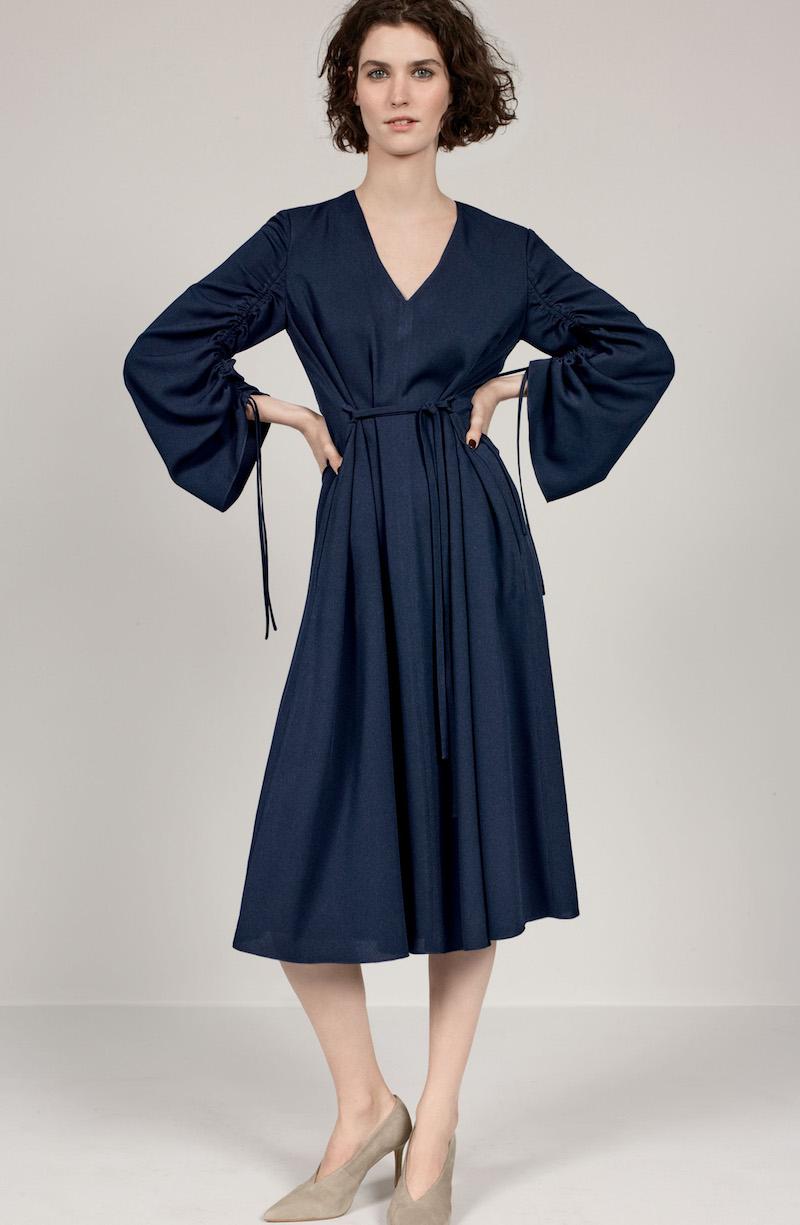Tibi Convertible Sleeve Midi Dress