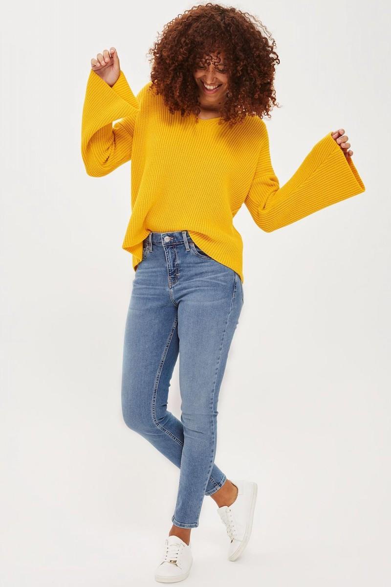 Topshop Lattice Back Sweater