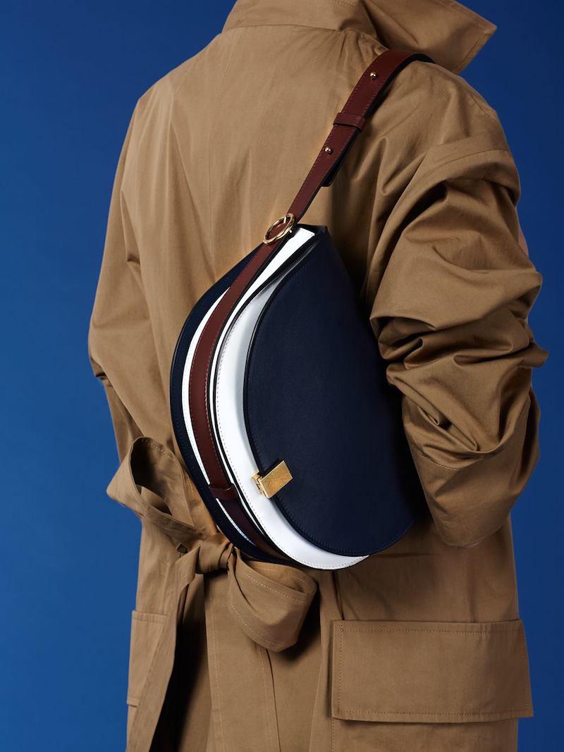 Victoria Victoria Beckham Multi Leather Half Moon Box Bag
