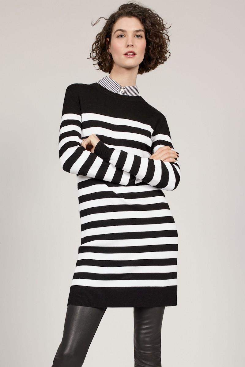 rag & bone Lilian Stripe Merino Wool Dress