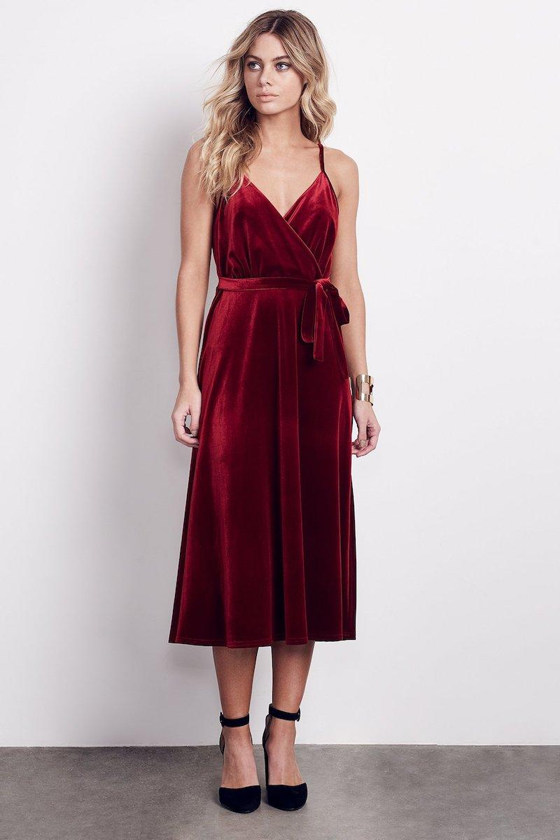Ali & Jay Velvet Midi Dress