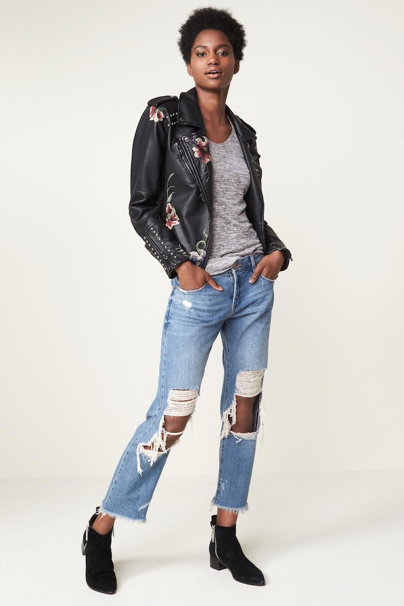 BLANKNYC Ripped Girlfriend Jeans