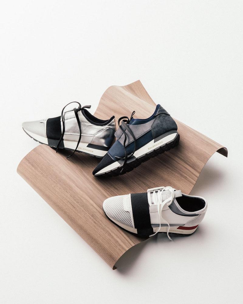Balenciaga Matelasse Metallic Sneaker