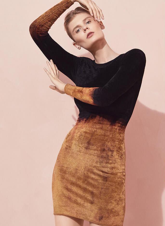 Balmain Chenille Ombre Sheath Dress