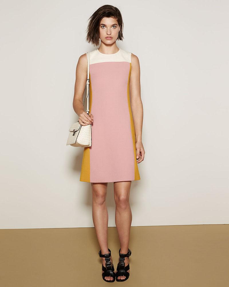 Bottega Veneta Colorblock Wool Shirt Dress