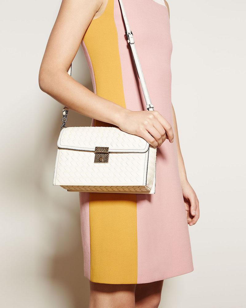 Bottega Veneta Intrecciato Leather Padlock Shoulder Bag