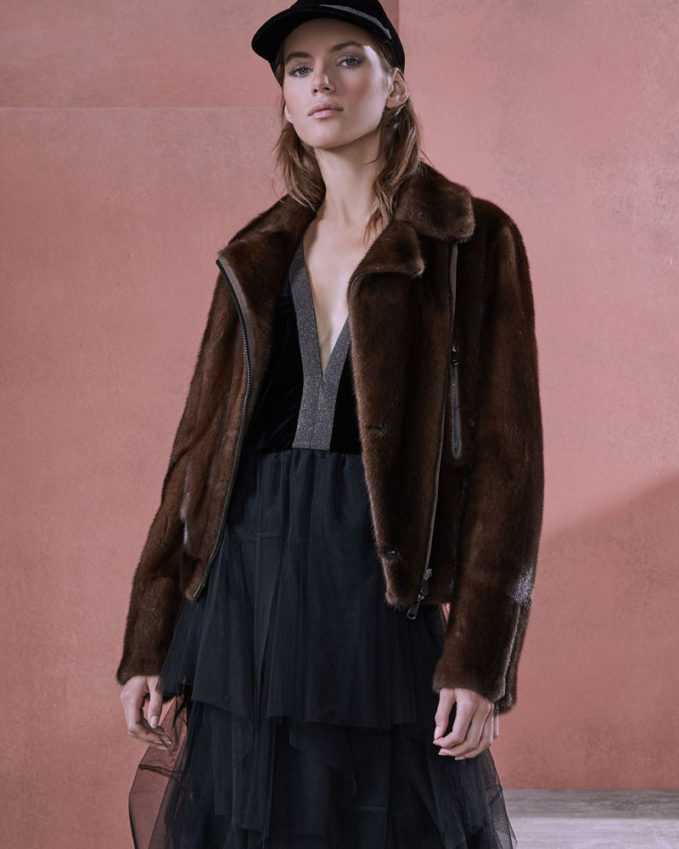 Brunello Cucinelli Reversible Mink Fur Moto Jacket