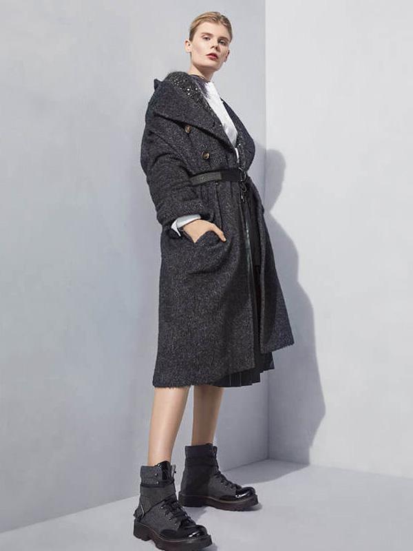 Brunello Cucinelli Wool Mohair Coat