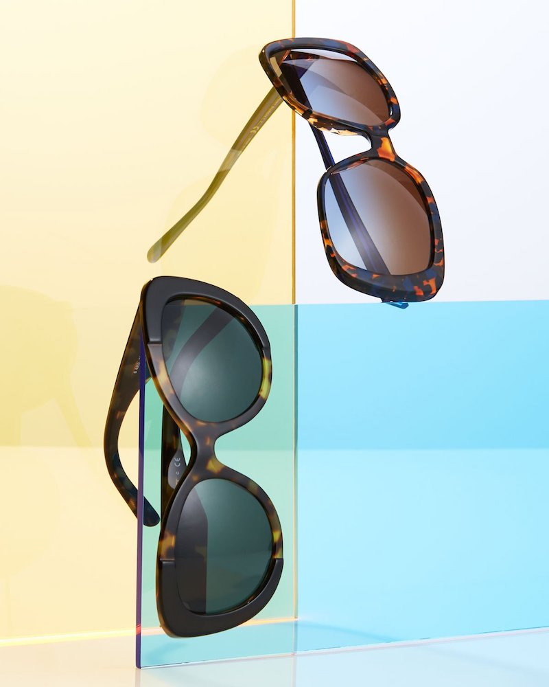 Burberry Two-Tone Butterfly Acetate Sunglasses