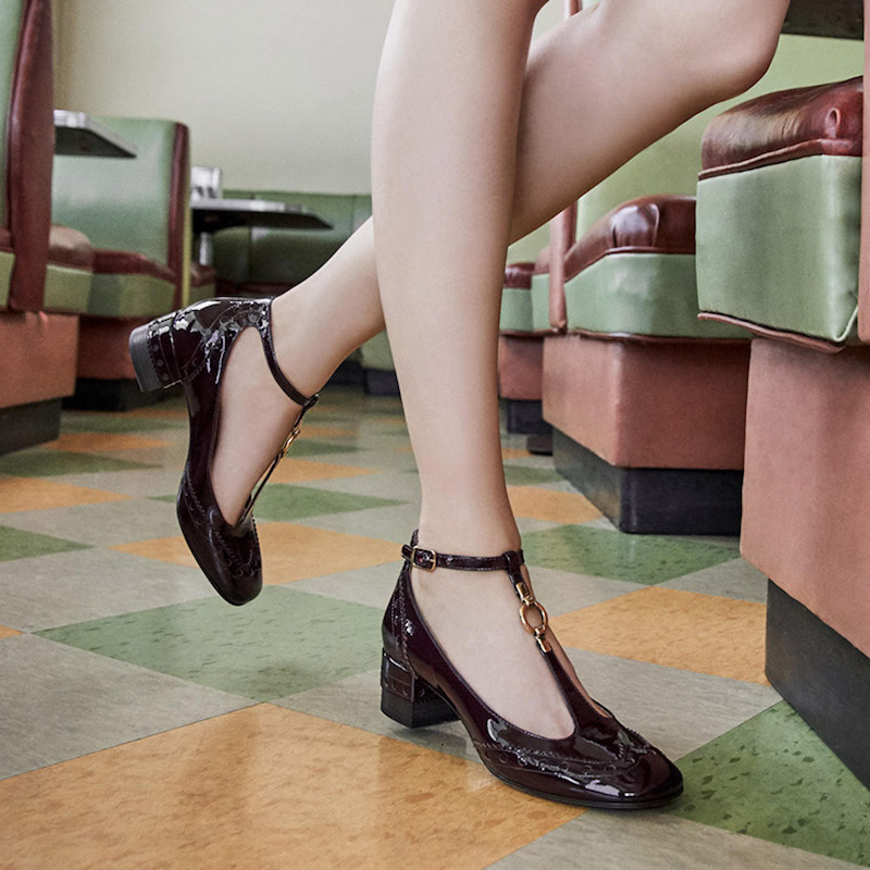 Chloé Perry Patent Leather Mary Jane Pumps