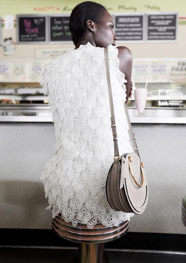 Chloé Silk Tie Neck Dress