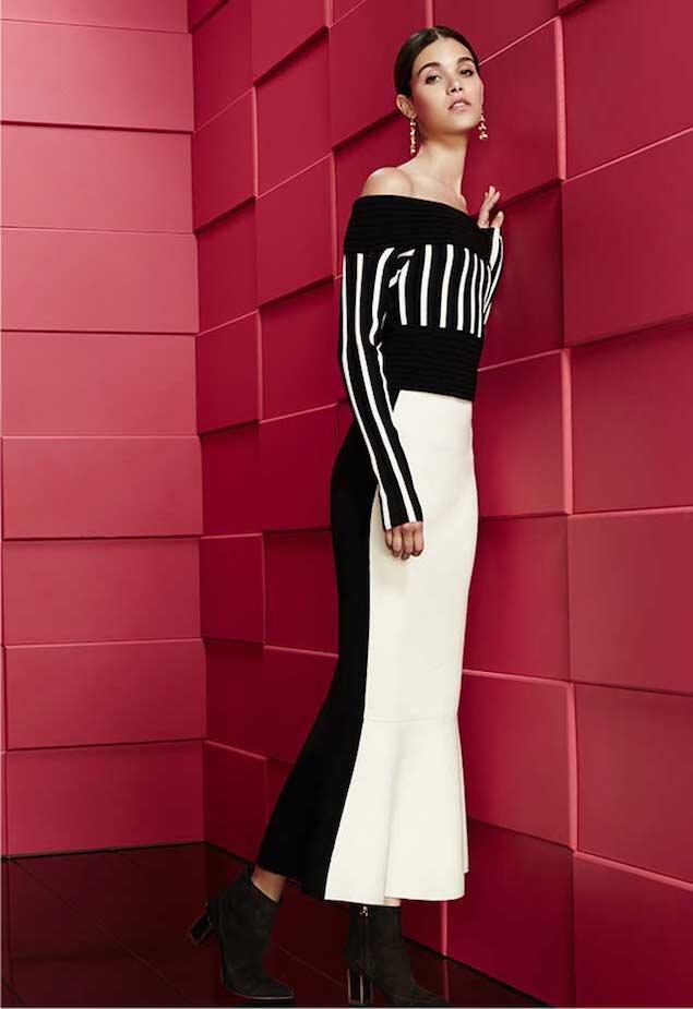 Diane von Furstenberg Long-Sleeve Off-the-Shoulder Knit Top